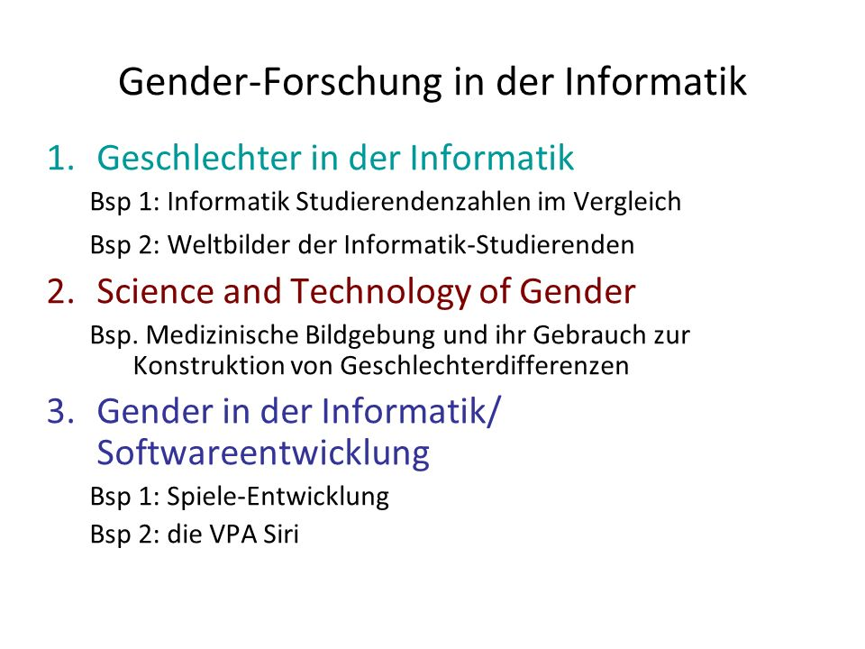 Gender-Forschung in der Informatik