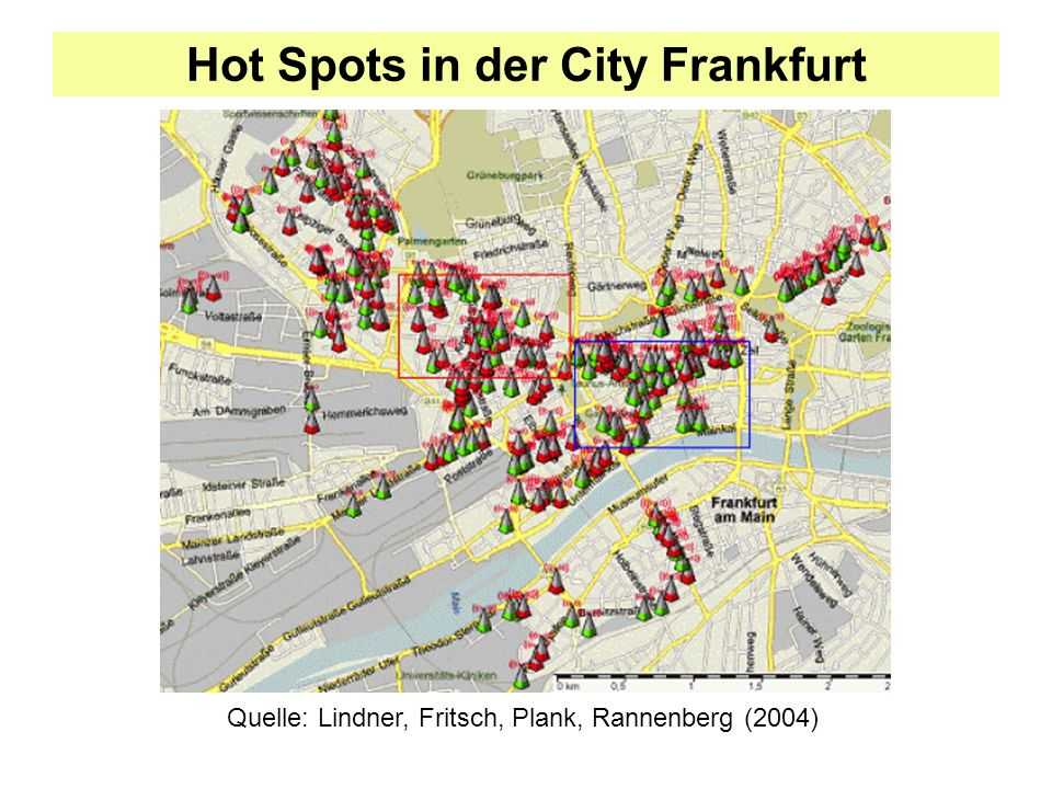 Hot Spots in der City Frankfurt
