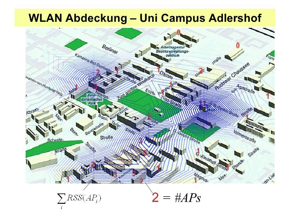 WLAN Abdeckung – Uni Campus Adlershof