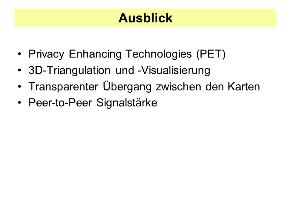 Ausblick Privacy Enhancing Technologies (PET)