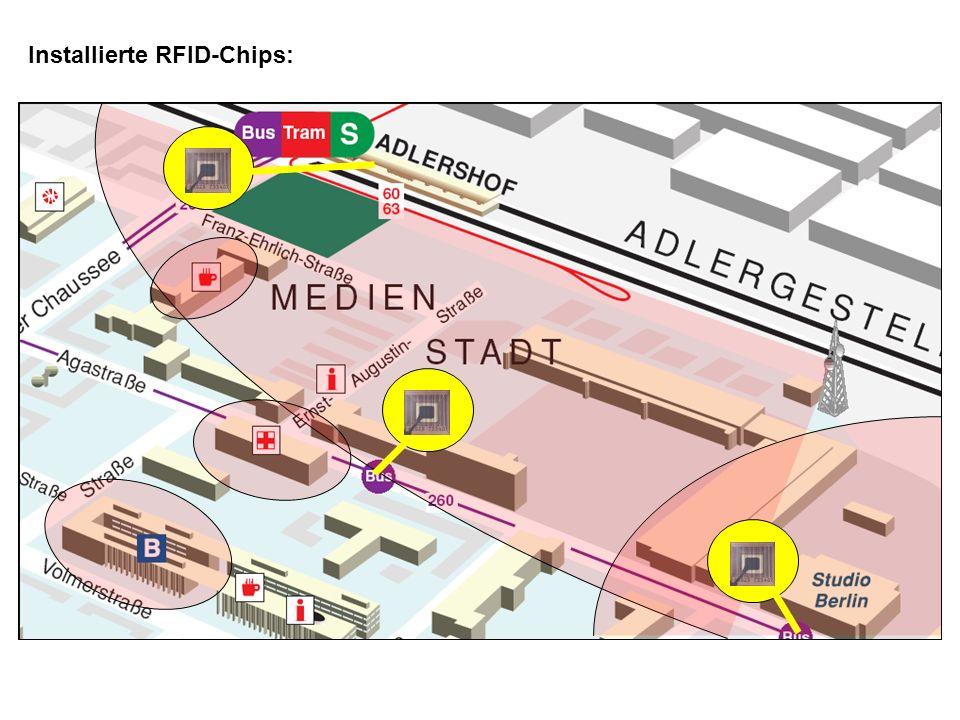 Installierte RFID-Chips: