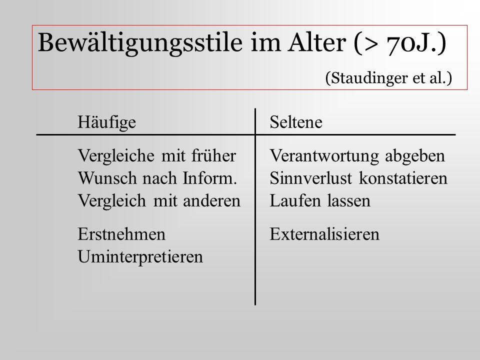 Bewältigungsstile im Alter (> 70J.) (Staudinger et al.)