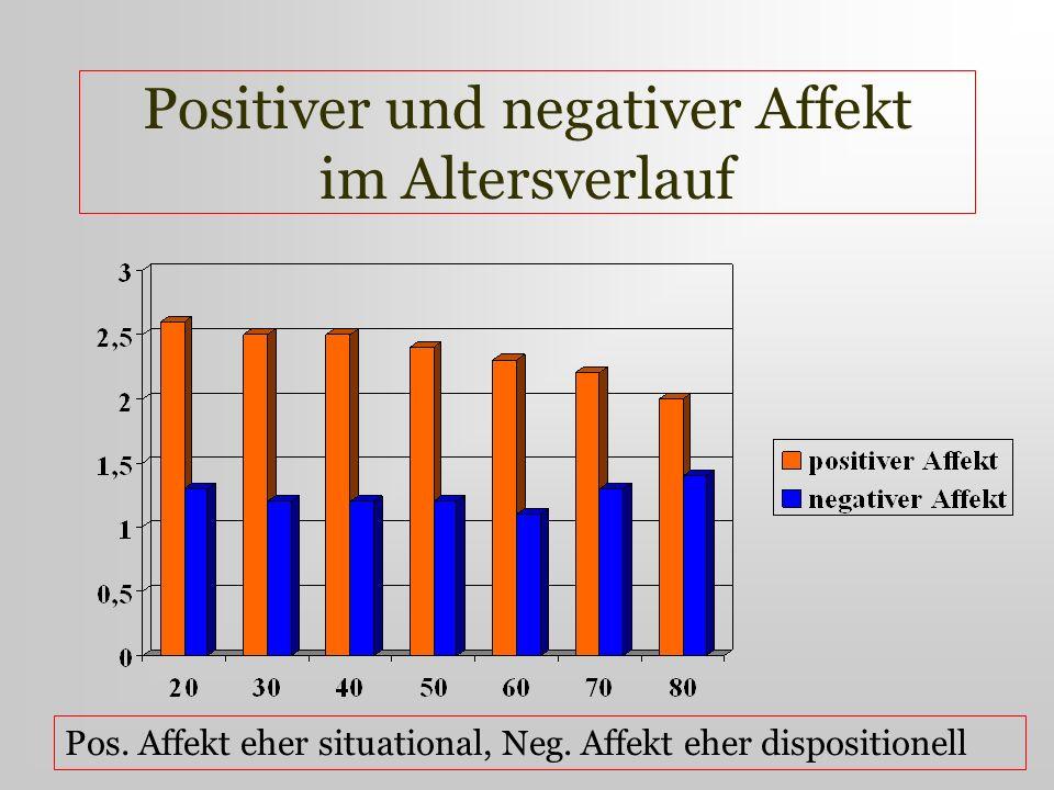 Positiver und negativer Affekt im Altersverlauf