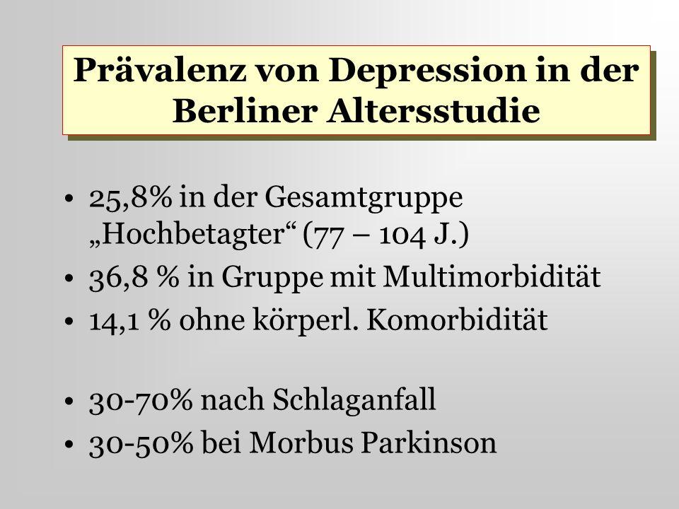 Prävalenz von Depression in der Berliner Altersstudie