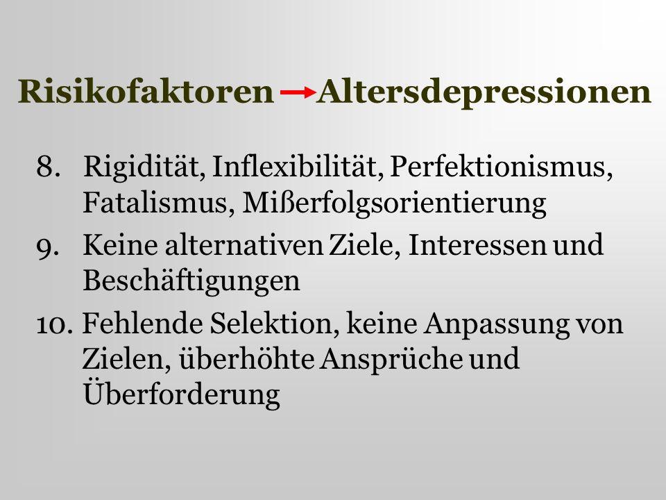 Risikofaktoren Altersdepressionen