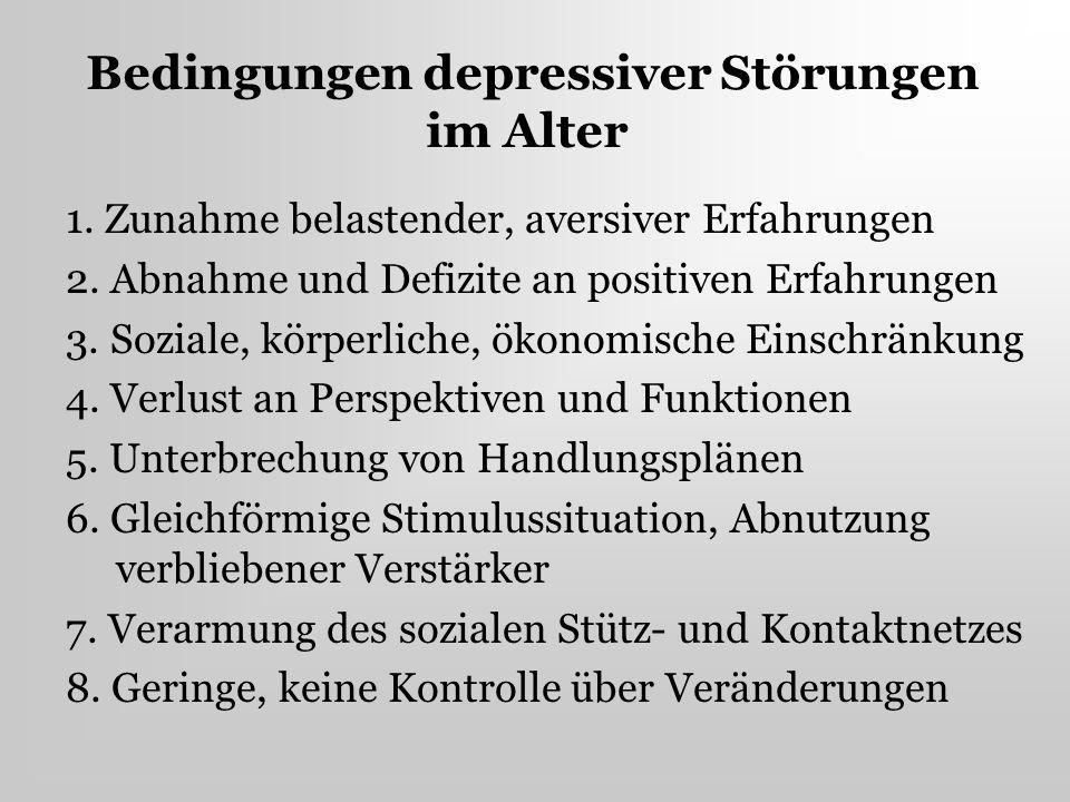 Bedingungen depressiver Störungen im Alter
