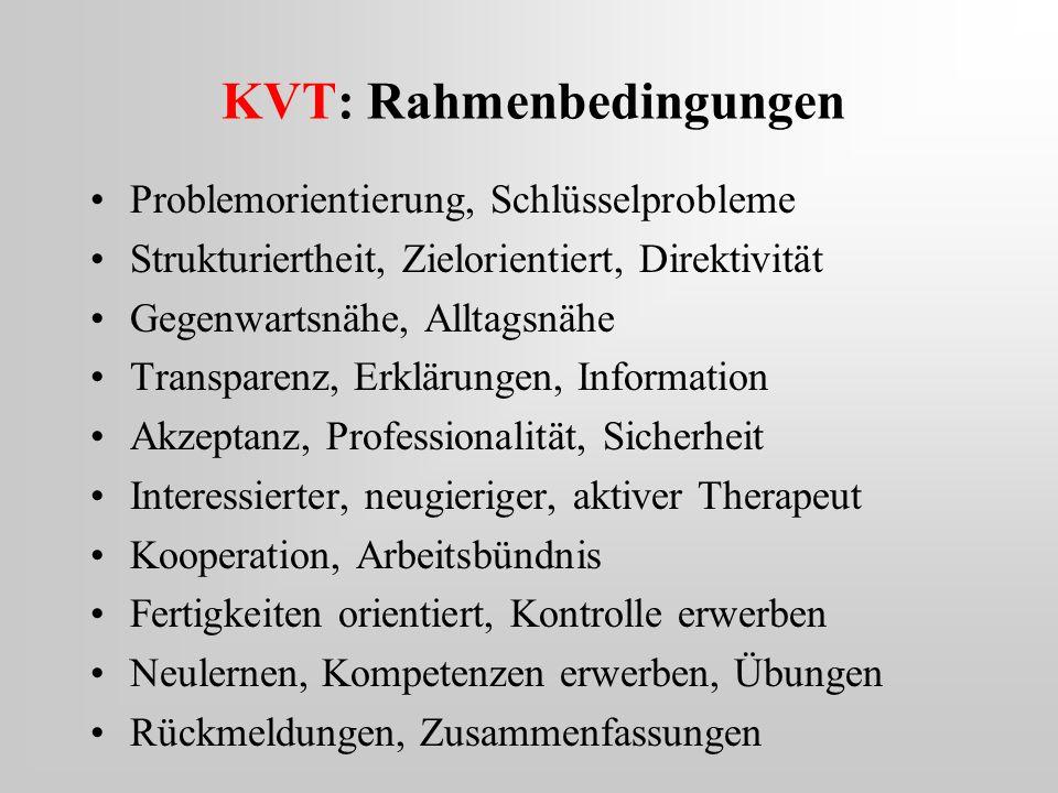 KVT: Rahmenbedingungen