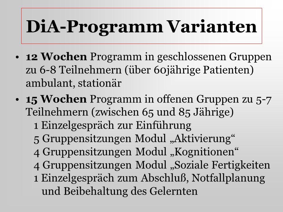 DiA-Programm Varianten