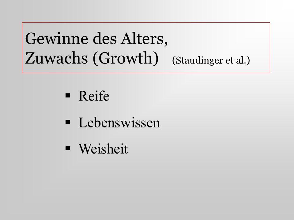 Gewinne des Alters, Zuwachs (Growth) (Staudinger et al.)