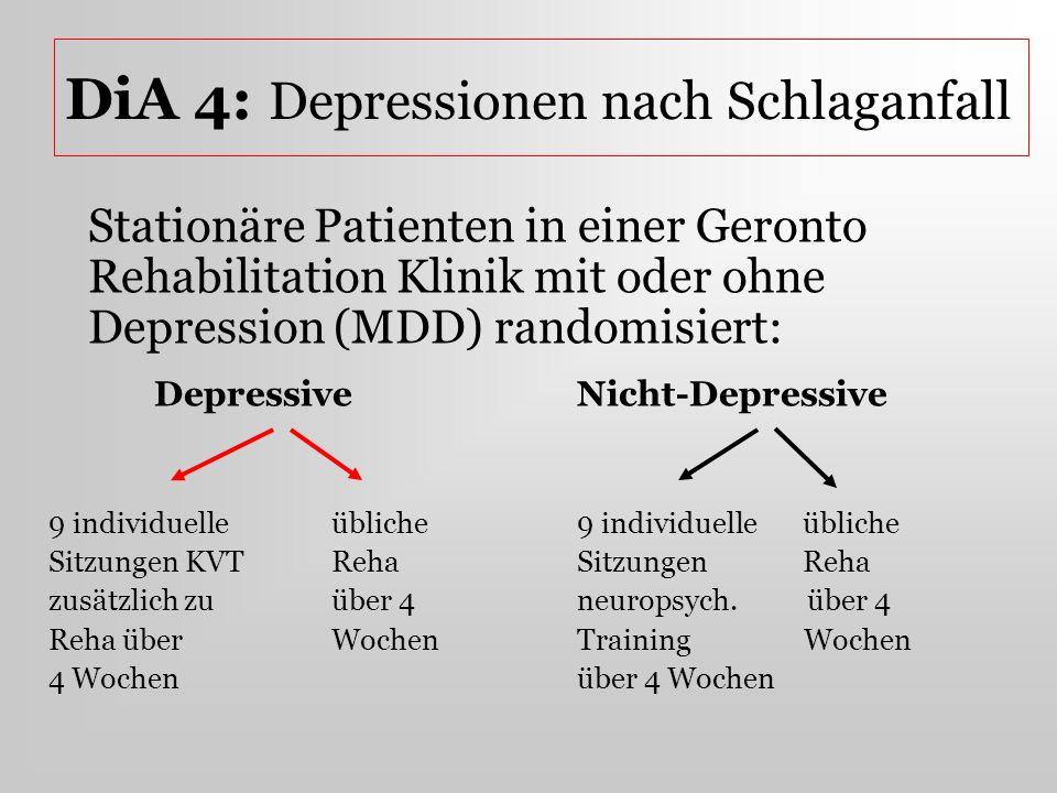 DiA 4: Depressionen nach Schlaganfall