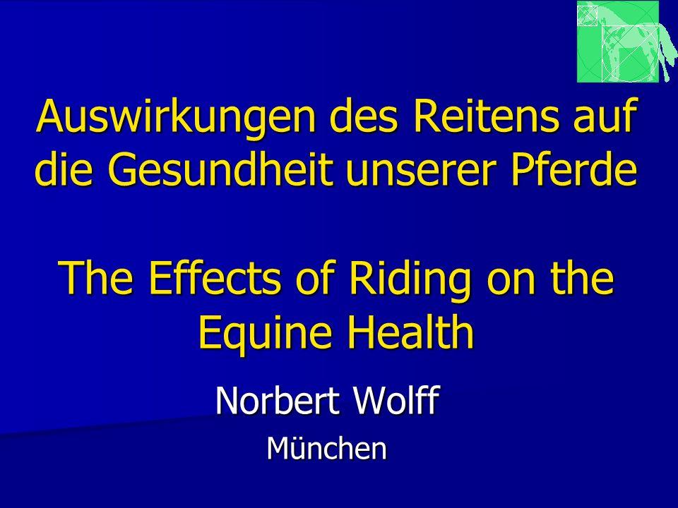 Auswirkungen des Reitens auf die Gesundheit unserer Pferde The Effects of Riding on the Equine Health