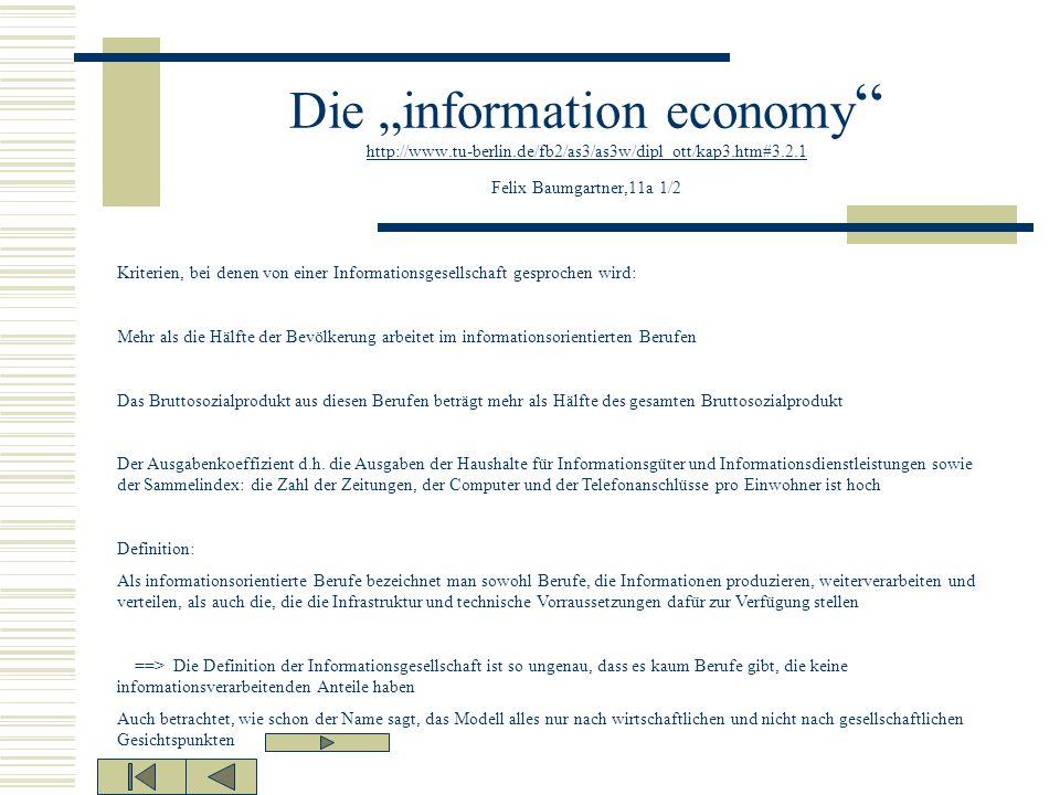 "Die ""information economy http://www. tu-berlin"