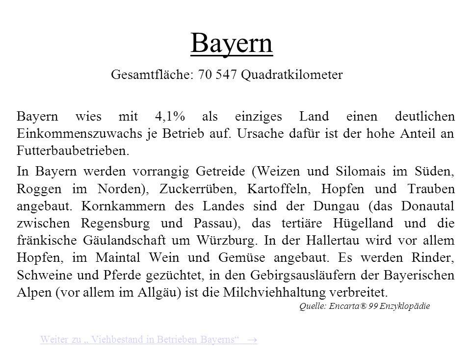 Bayern Gesamtfläche: 70 547 Quadratkilometer