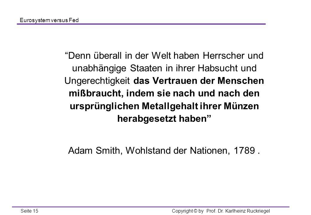 Adam Smith, Wohlstand der Nationen, 1789 .