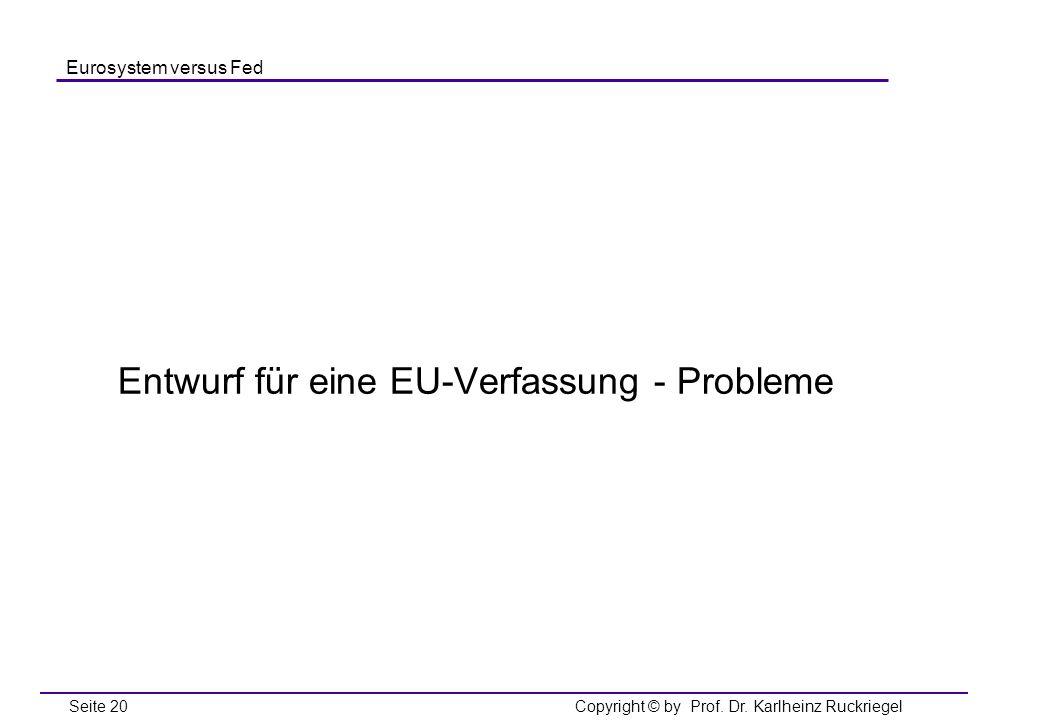 Entwurf für eine EU-Verfassung - Probleme