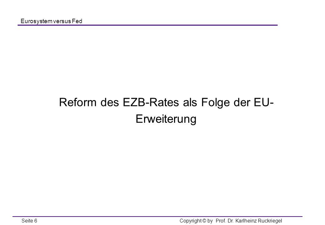 Reform des EZB-Rates als Folge der EU-Erweiterung