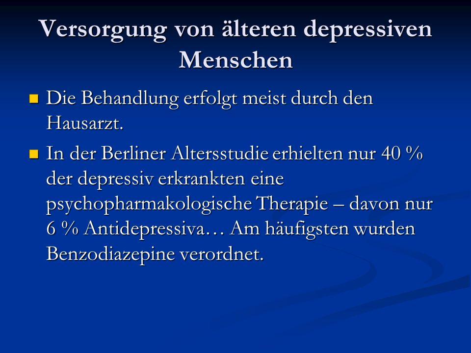 Versorgung von älteren depressiven Menschen