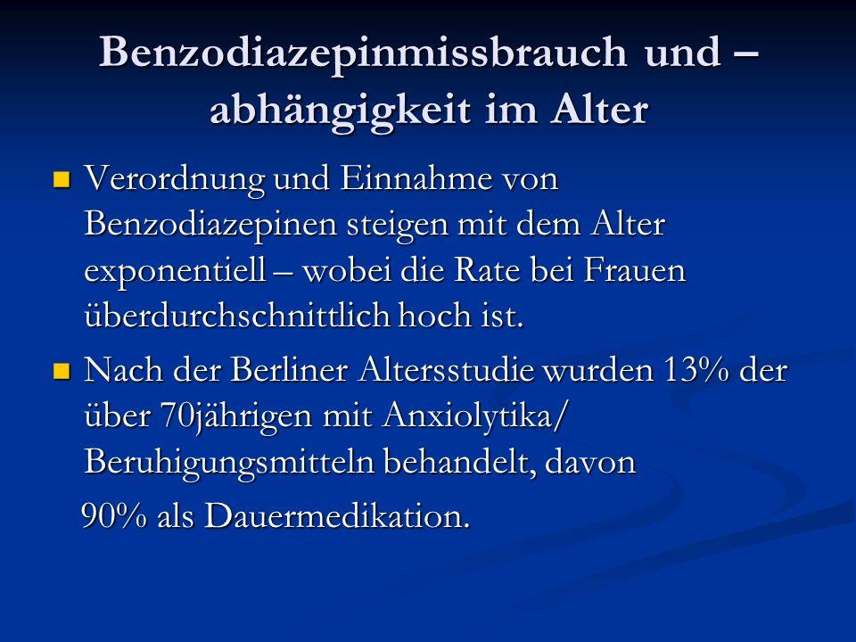 Benzodiazepinmissbrauch und –abhängigkeit im Alter