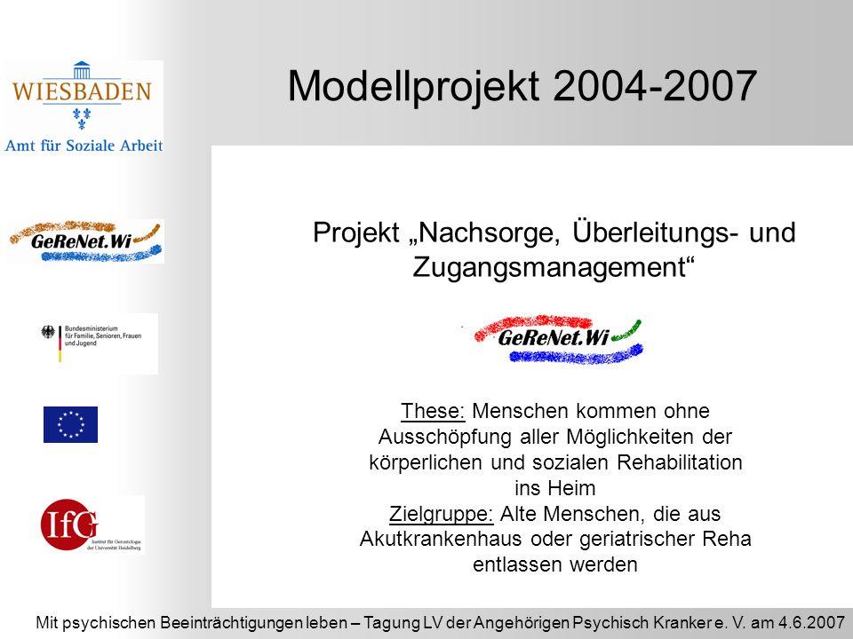 """Projekt """"Nachsorge, Überleitungs- und Zugangsmanagement"""
