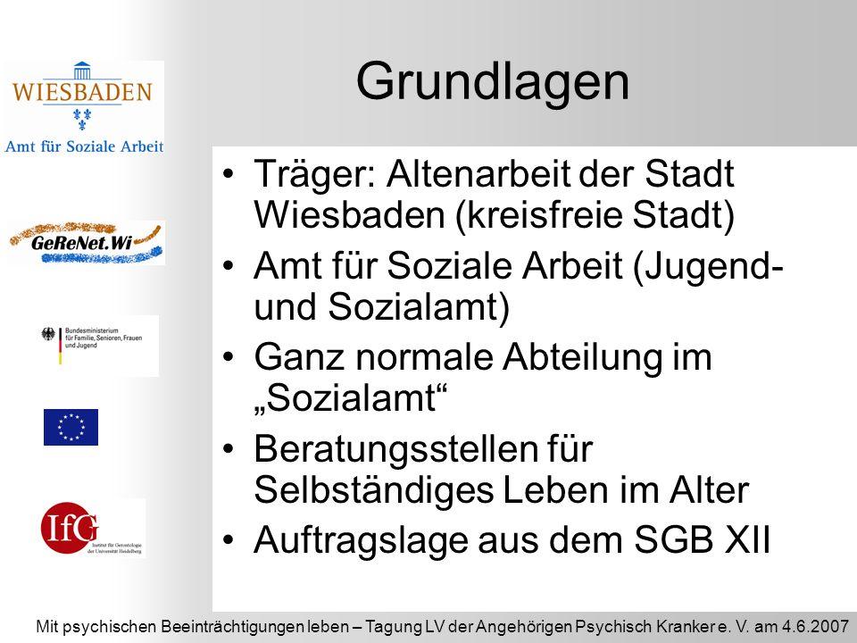 Grundlagen Träger: Altenarbeit der Stadt Wiesbaden (kreisfreie Stadt)