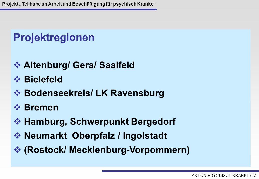 Projektregionen Altenburg/ Gera/ Saalfeld Bielefeld