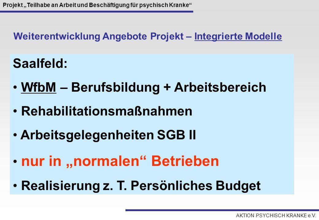 WfbM – Berufsbildung + Arbeitsbereich Rehabilitationsmaßnahmen