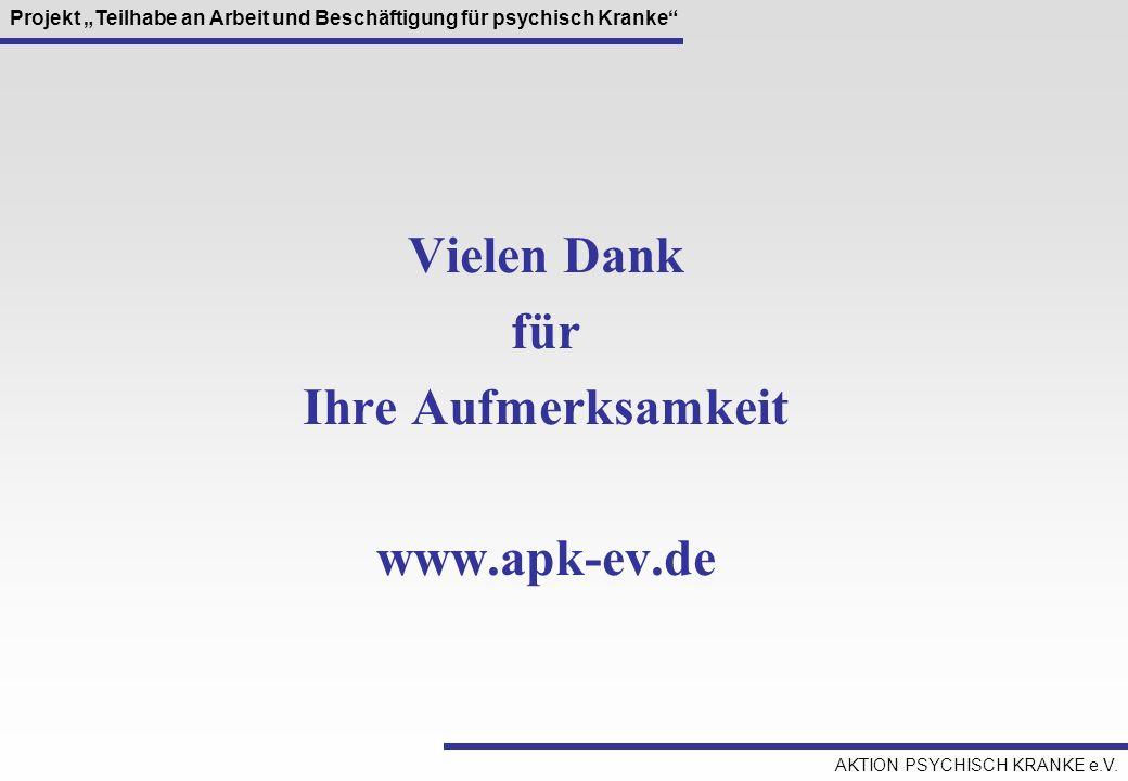 Vielen Dank für Ihre Aufmerksamkeit www.apk-ev.de