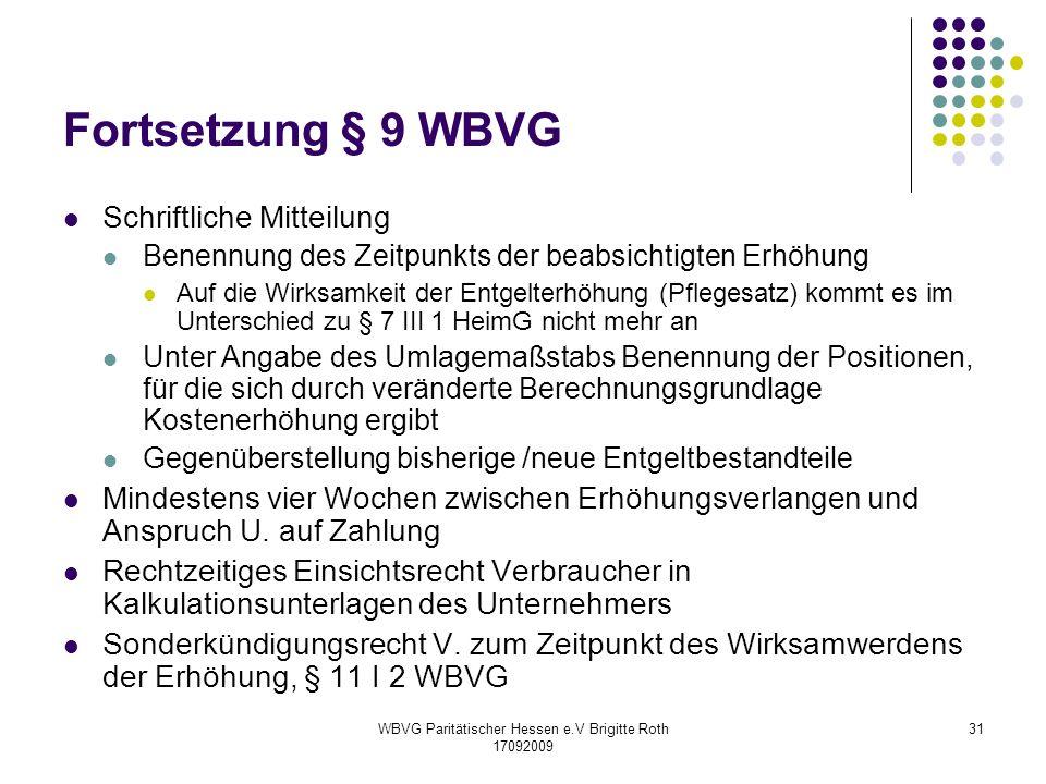 WBVG Paritätischer Hessen e.V Brigitte Roth 17092009