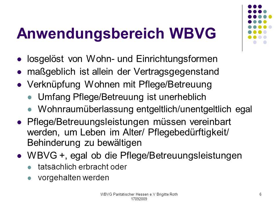 Anwendungsbereich WBVG