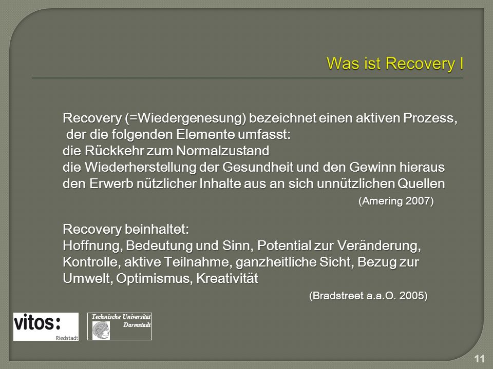 Was ist Recovery I