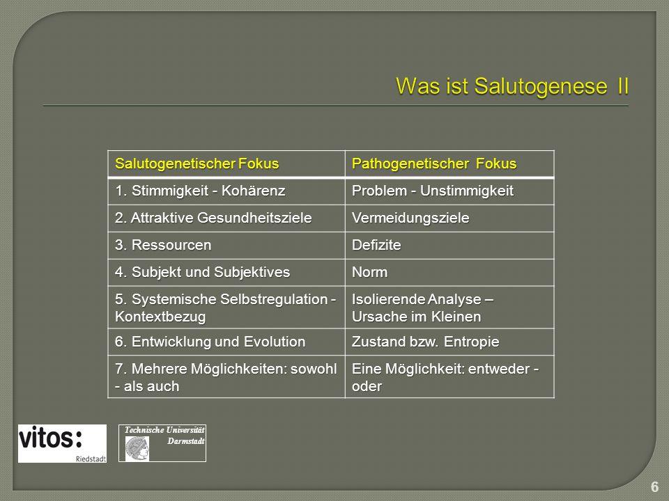 Was ist Salutogenese II