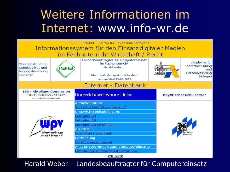 Weitere Informationen im Internet: www.info-wr.de