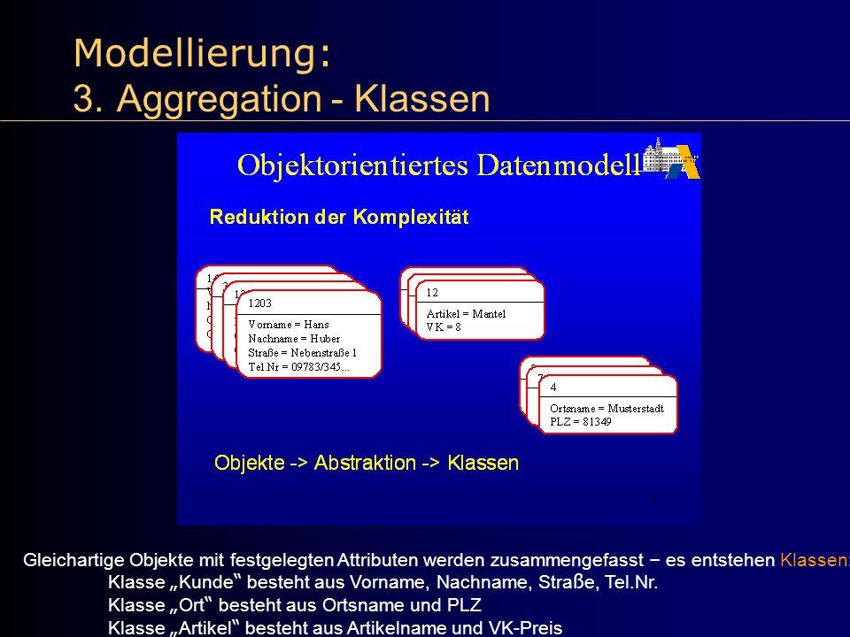 Modellierung: 3. Aggregation - Klassen