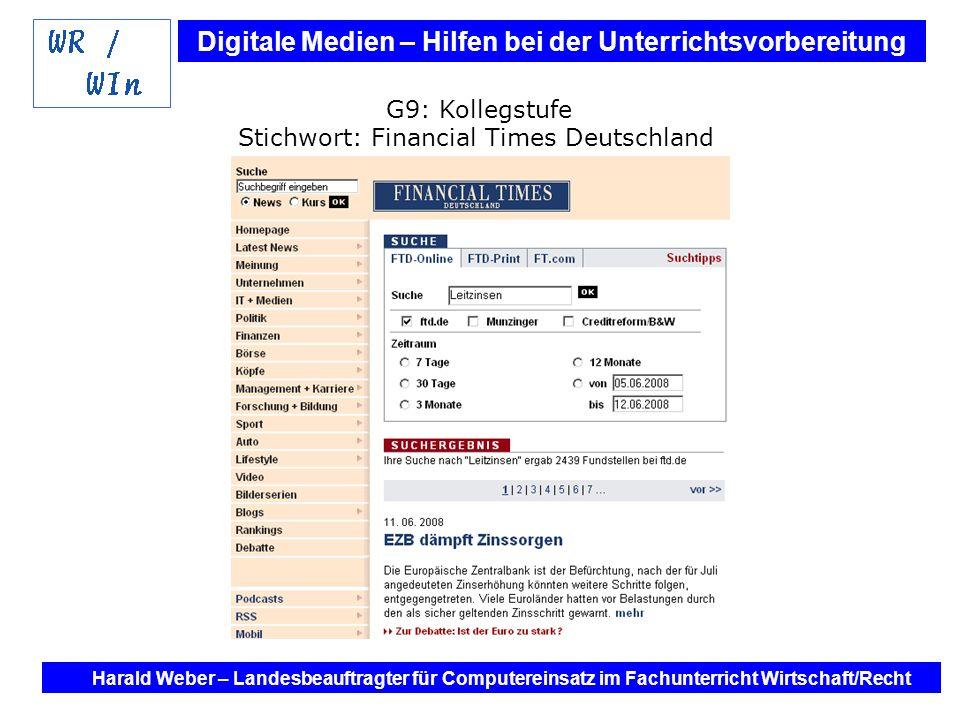 Stichwort: Financial Times Deutschland