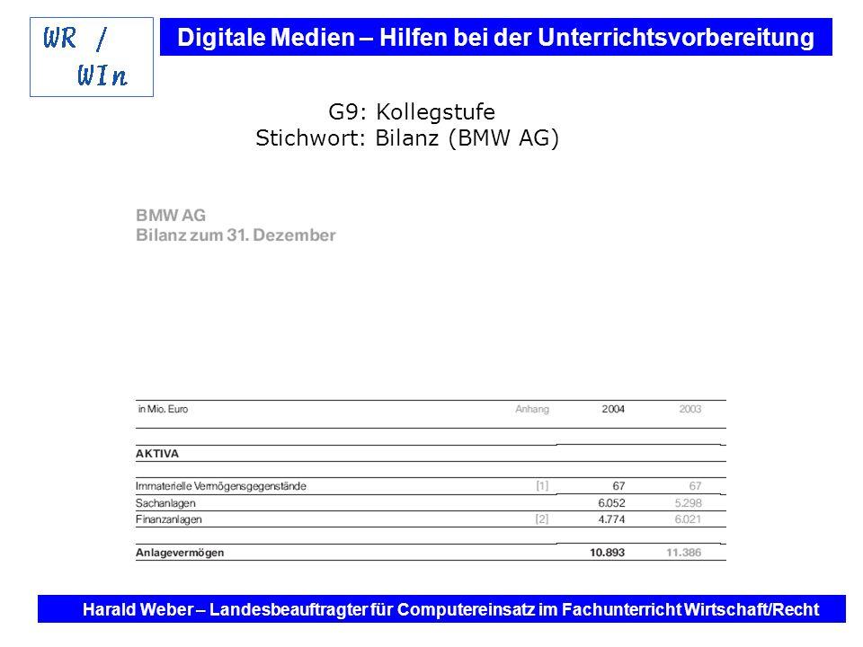 Stichwort: Bilanz (BMW AG)