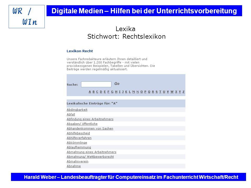 Lexika Stichwort: Rechtslexikon