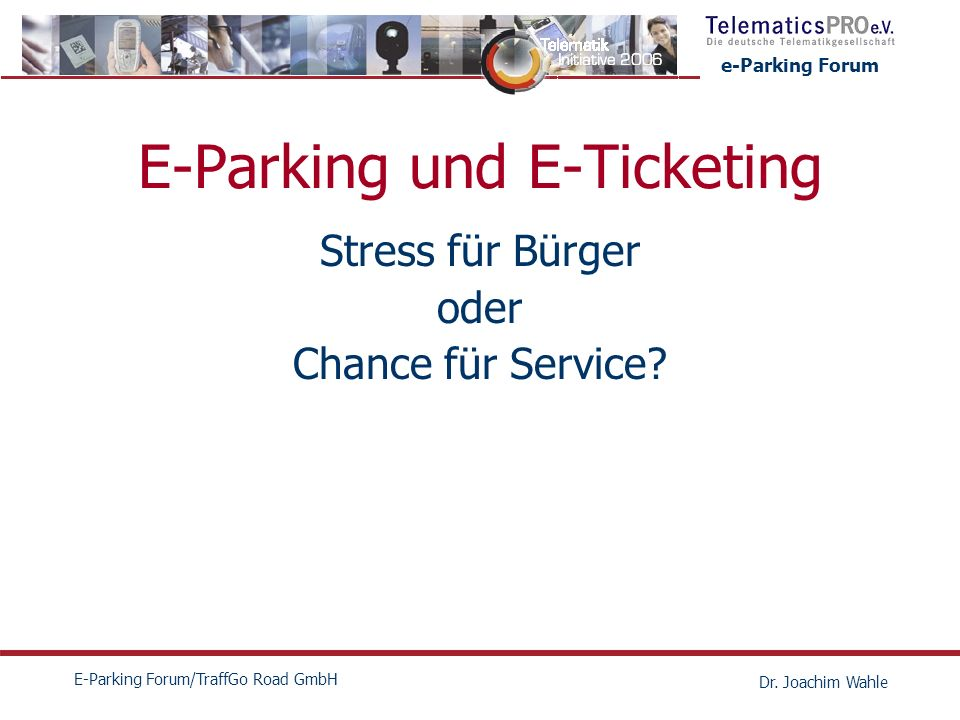 E-Parking und E-Ticketing