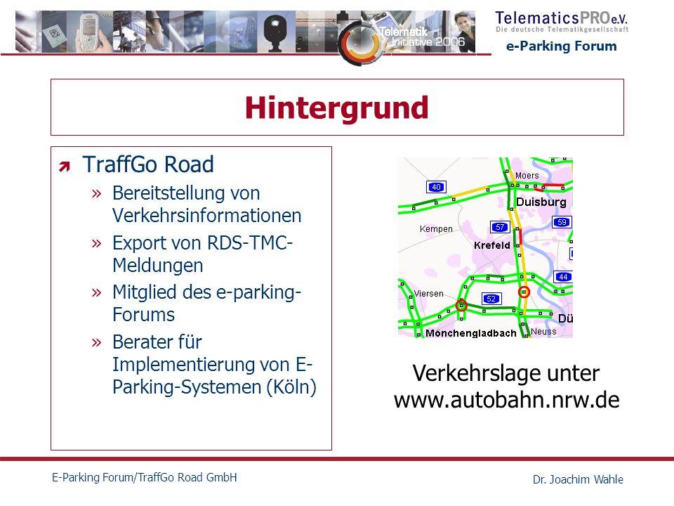 Hintergrund TraffGo Road Verkehrslage unter www.autobahn.nrw.de