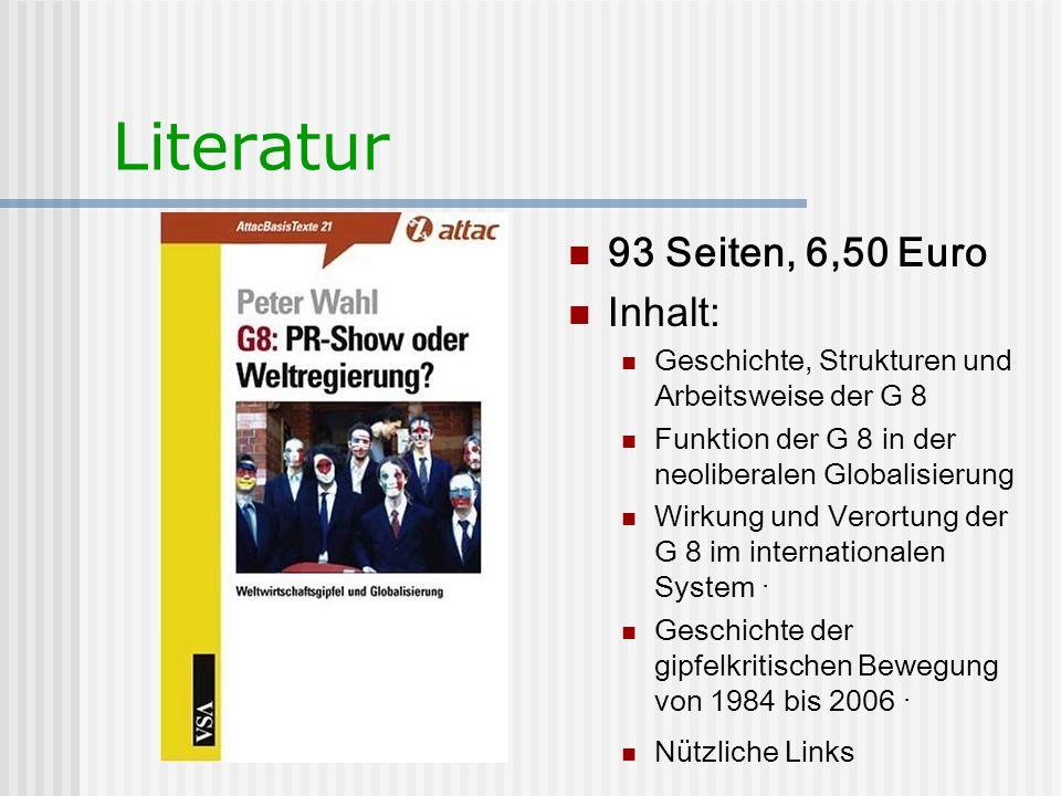 Literatur 93 Seiten, 6,50 Euro Inhalt: