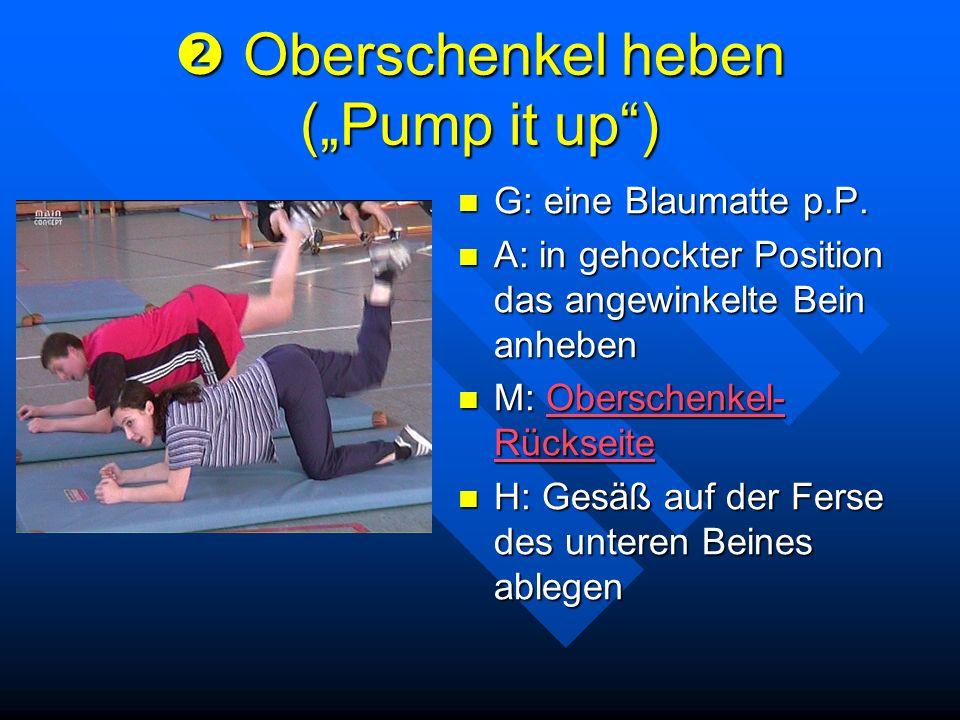 """ Oberschenkel heben (""""Pump it up )"""