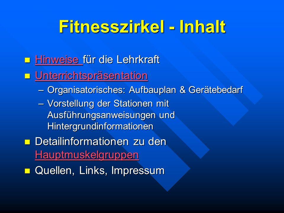 Fitnesszirkel - Inhalt