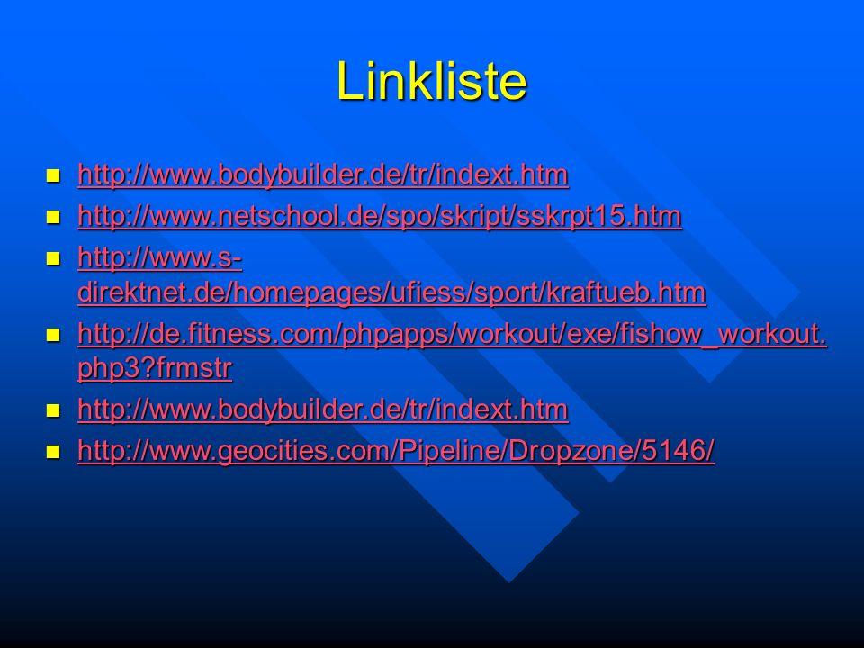 Linkliste http://www.bodybuilder.de/tr/indext.htm