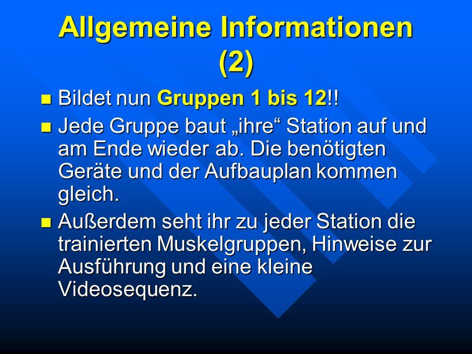 Allgemeine Informationen (2)