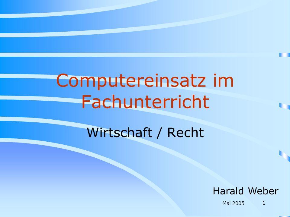 Computereinsatz im Fachunterricht