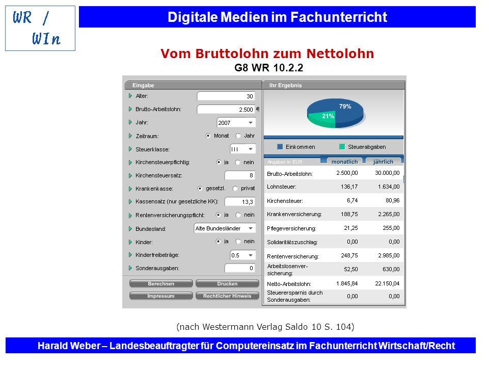 Vom Bruttolohn zum Nettolohn G8 WR 10.2.2
