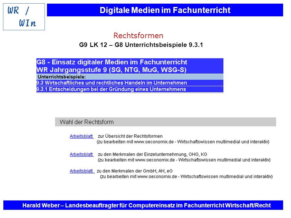 G9 LK 12 – G8 Unterrichtsbeispiele 9.3.1