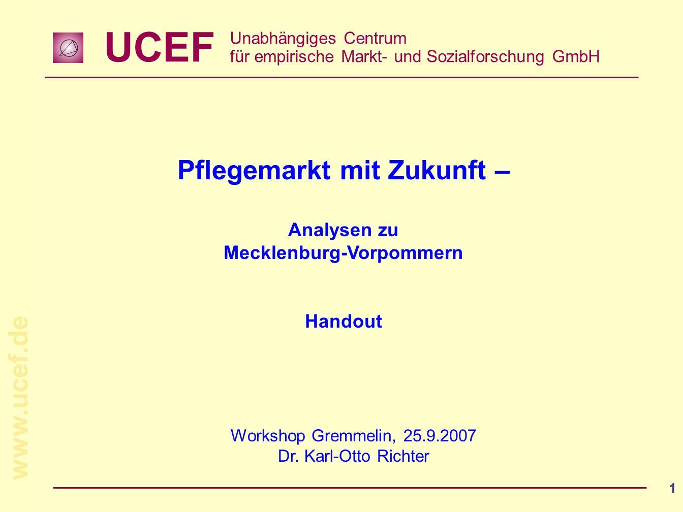 Pflegemarkt mit Zukunft – Mecklenburg-Vorpommern