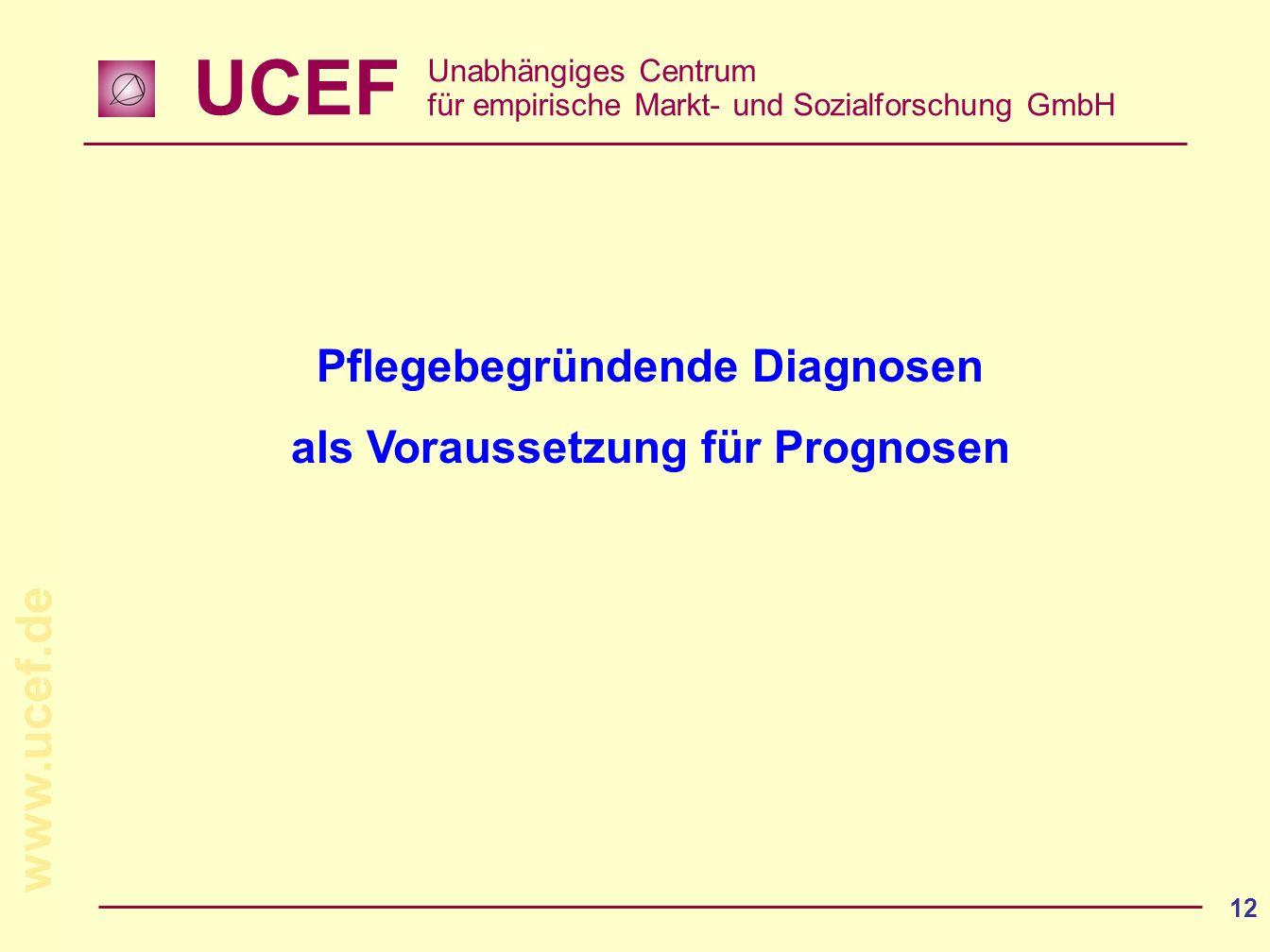 Pflegebegründende Diagnosen als Voraussetzung für Prognosen