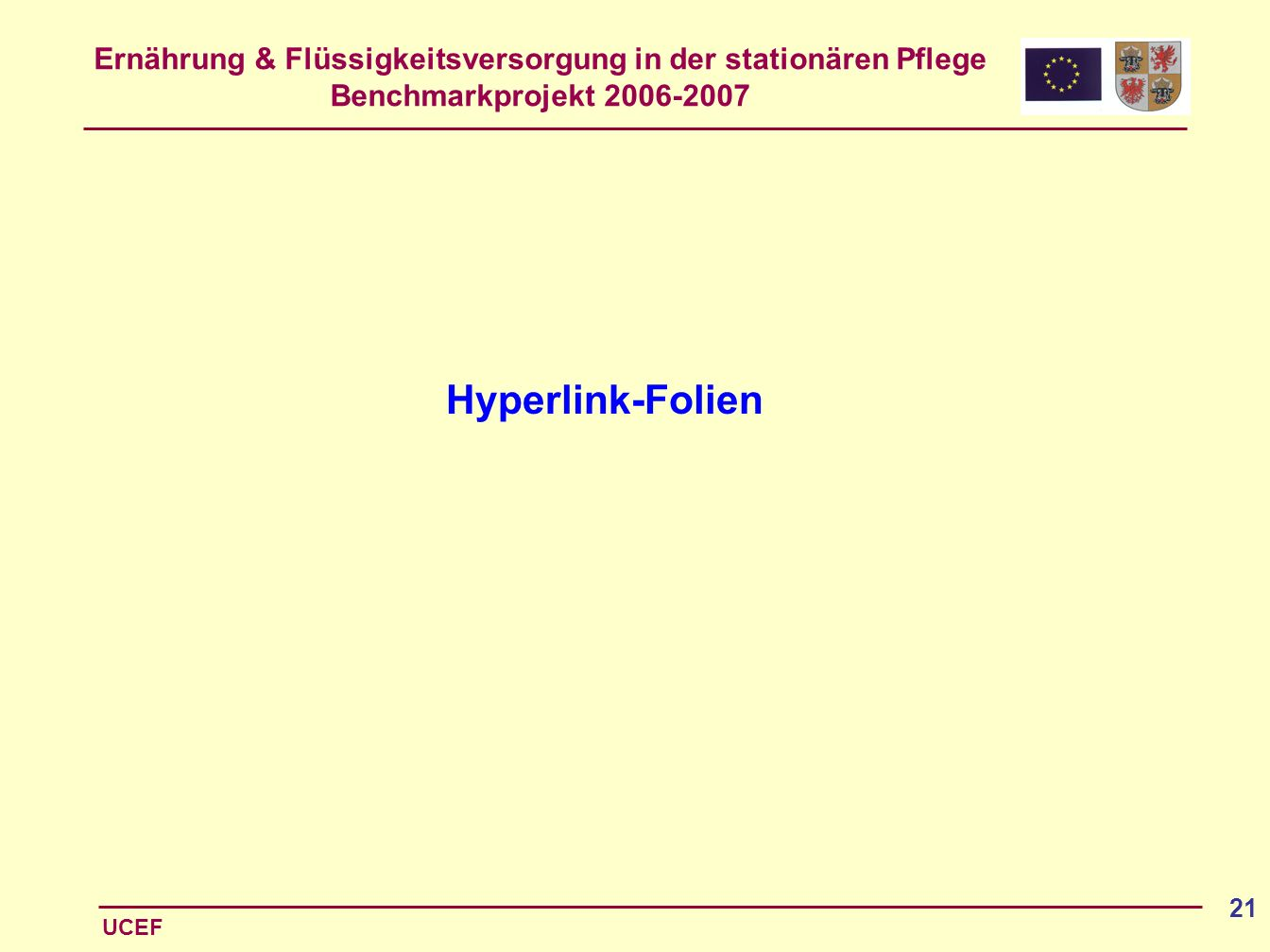 Hyperlink-Folien