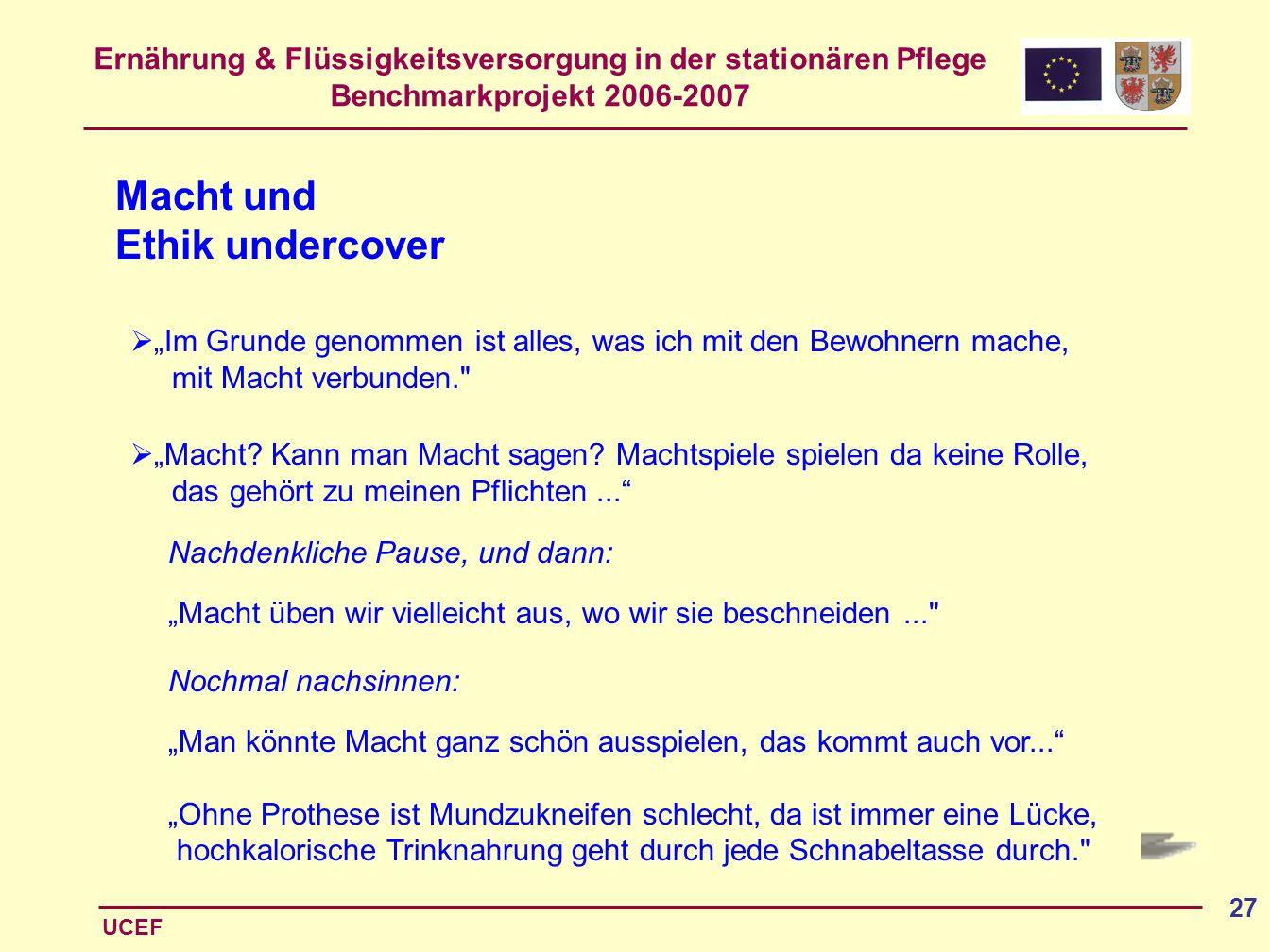 Macht und Ethik undercover